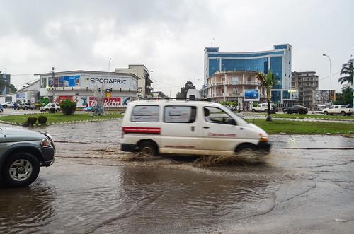 Pointe-Noire in the rain