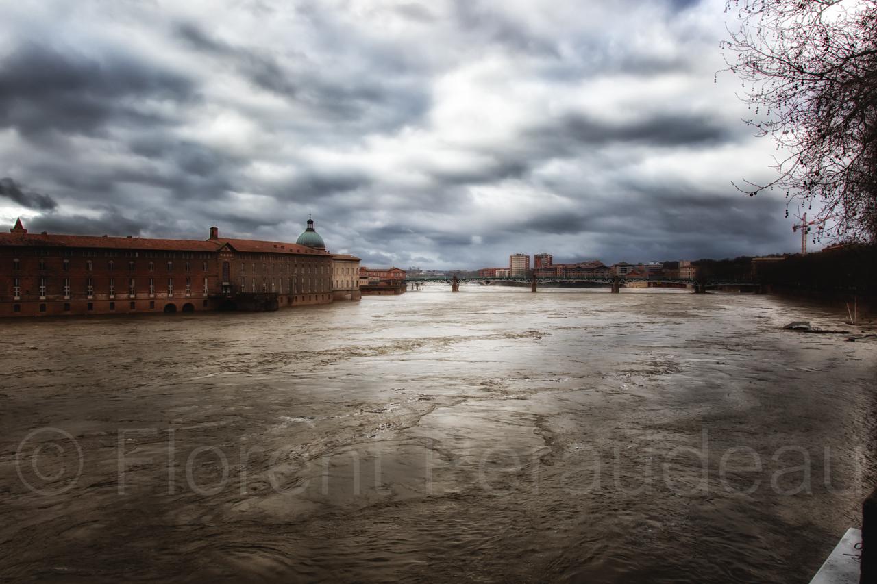 la Garonne en crue, 25 et 26 janvier 2014, Toulouse 12137259644_e10b5394db_o