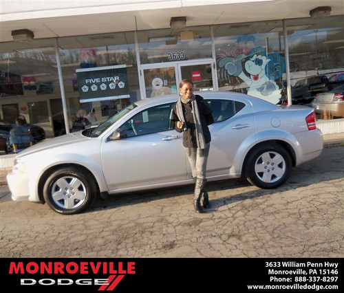 Happy Anniversary to Lynda Johnson-Alexander on your 2013 #Dodge #Avenger from Thomas Martin  and everyone at Monroeville Dodge! #Anniversary by Monroeville Dodge