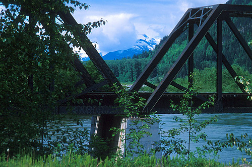Canadian National Railways Bridge, Terrace, Yellowhead Highway 16, Skeena River Valley, Northern British Columbia