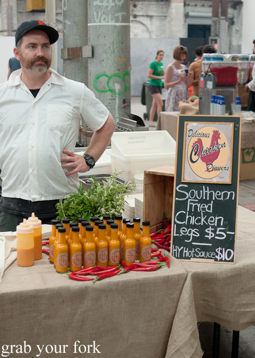 Gregory Llewellyn from Hartsyard at the Sunday Marketplace, Rootstock Sydney 2014
