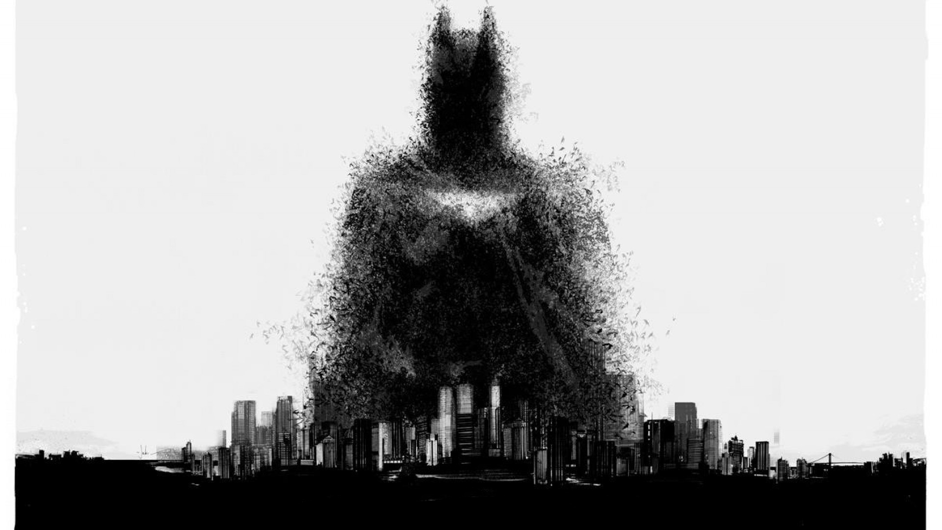 Batman Artwork Gotham City - Top 10 HD Batman Movie Desktop Wallpapers