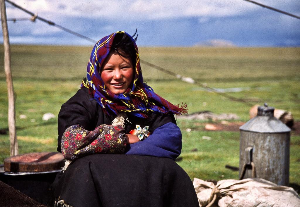 16. Mujer nómada tibetana. Autor, Erik Törner