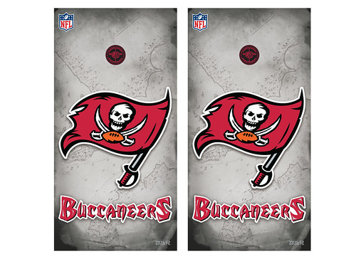 Tampa Bay Buccaneers Cornhole Game Decal Set