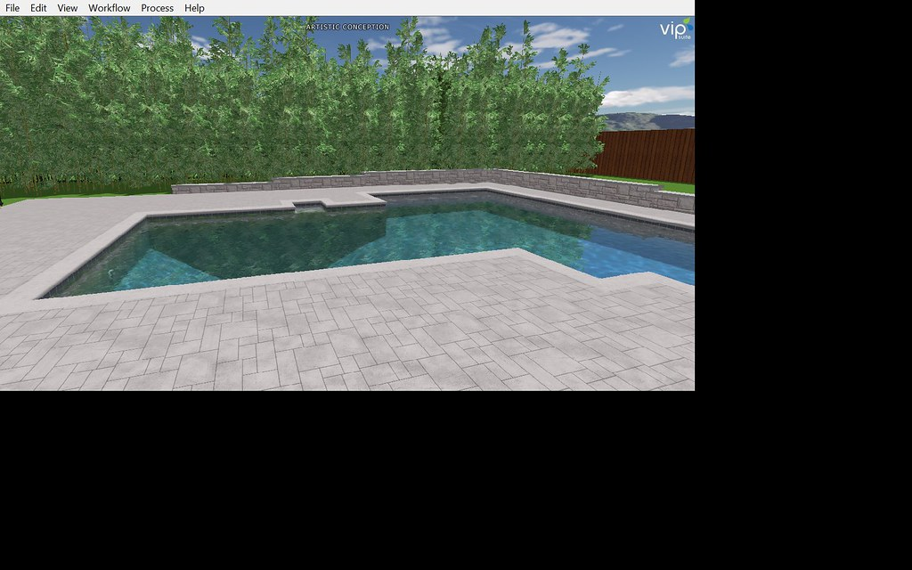 pool render two