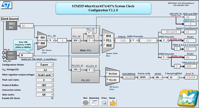 Clock configuration Tool for STM32F1 - Xymuve-Skkima