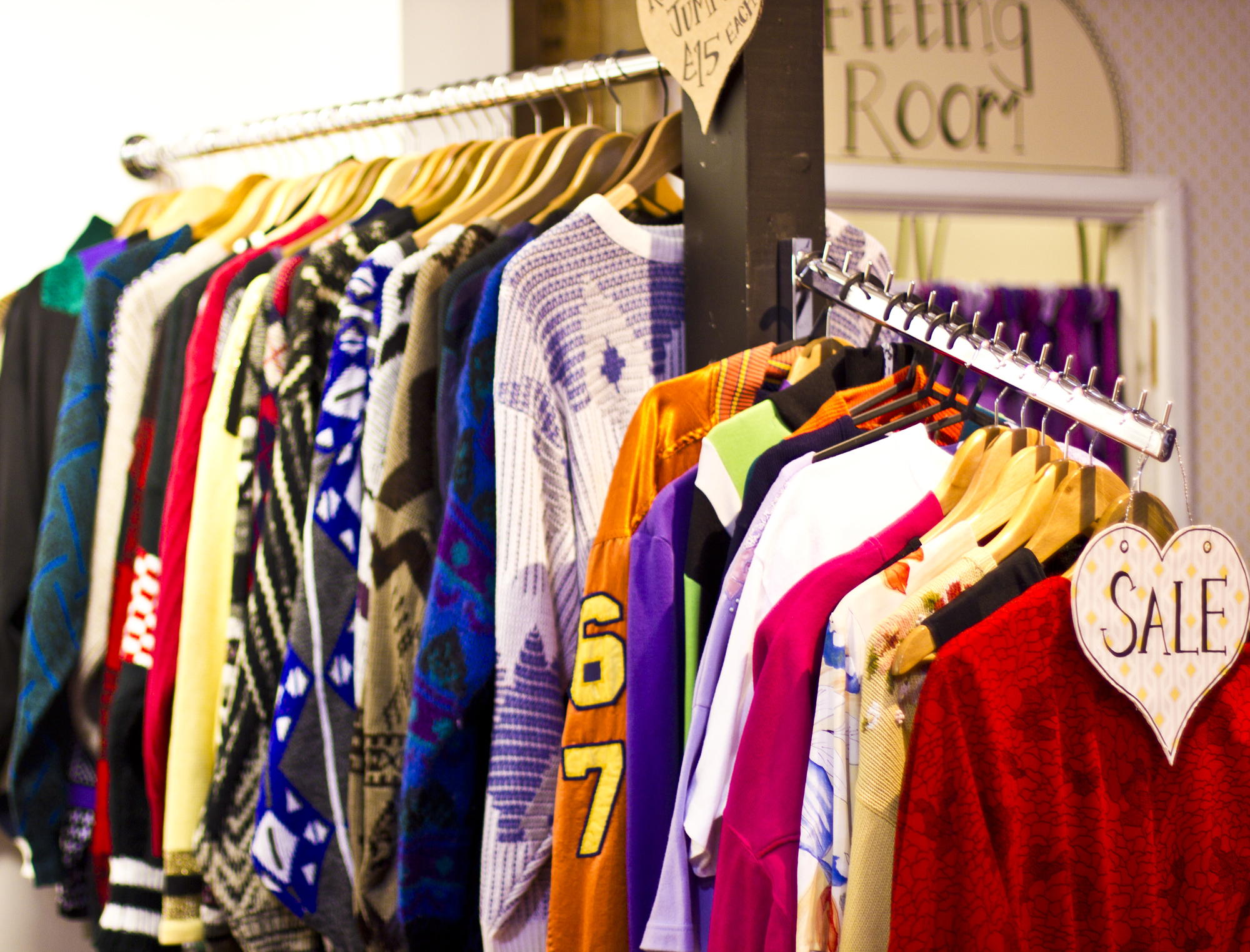 Vintage clothes at Cardiff fashion quarter
