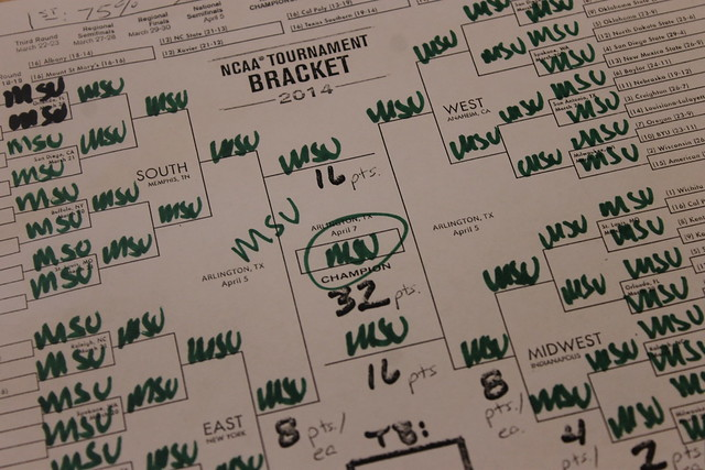 Perfect Bracket Go Spartans March Madness MSU