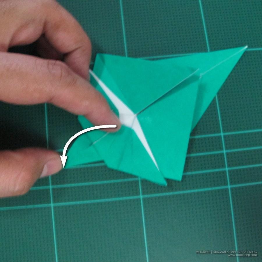 วิธีพับกระดาษเป็นรูปหมู (Origami Pig) 017