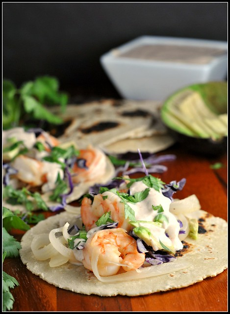Honey Lime Tequila Shrimp Tacos 1