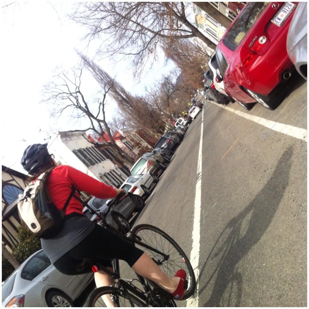 Stephie rides her bike