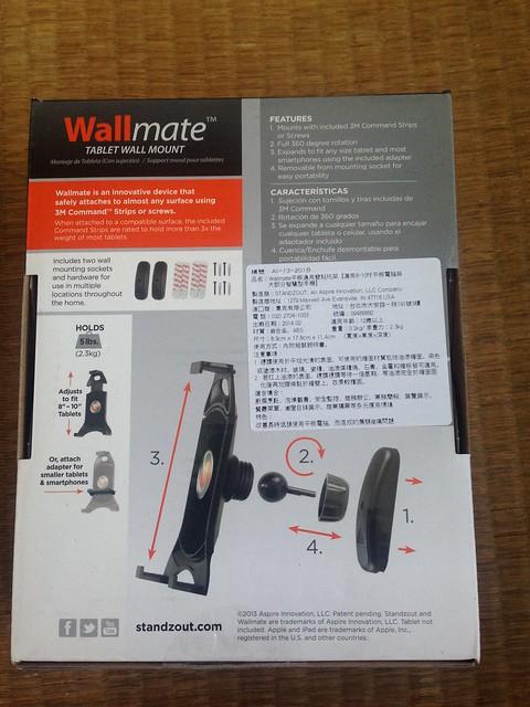 美國Standzout Wallmate平板通用壁貼托架