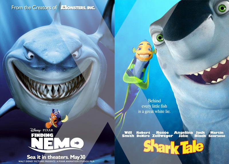 Procurando Nemo Vs. Espanta Tubarões