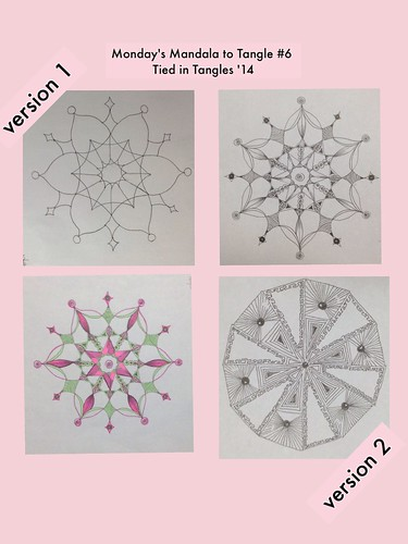 Monday's Mandala to Tangle #6 Tied in Tangles