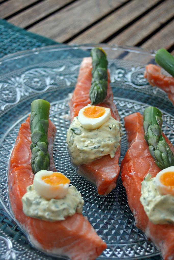 saumon aux asperge