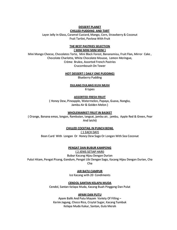 Menu - Ramadhan Food Review 2014 - Hilton Petaling Jaya-page-005