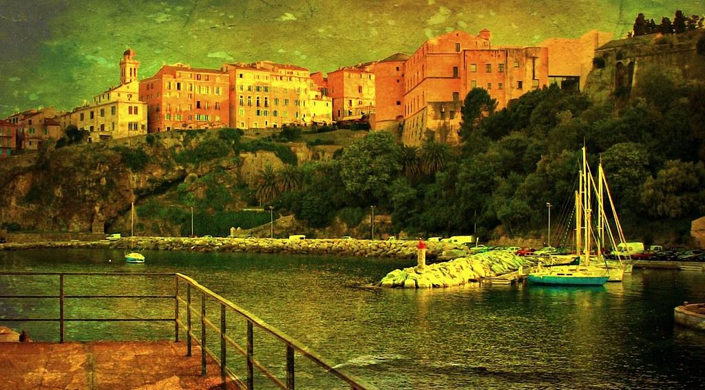 KORSIKA, Im Hafen von Bastia, Texture , 11208/3484