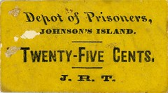 Johnson Island Sutler scrip