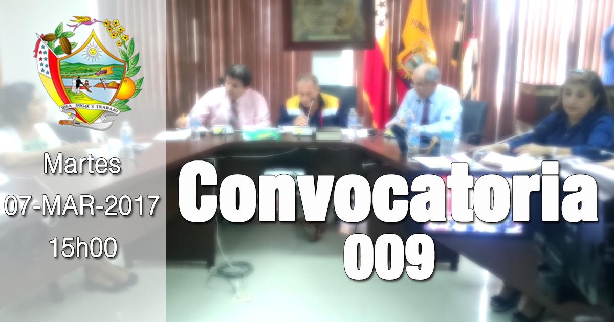 Convocatoria 009