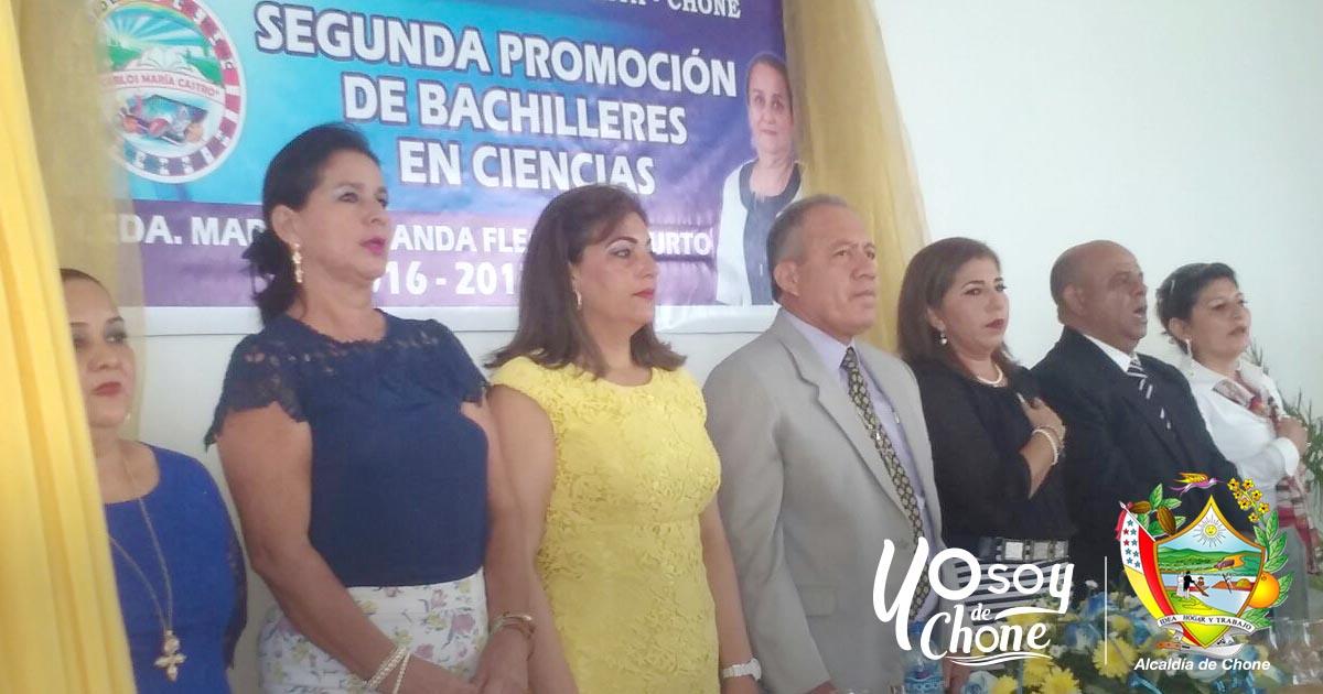 Incorporación Segunda Promoción Bachilleres en Ciencias UE del Milenio Carlos María Castro