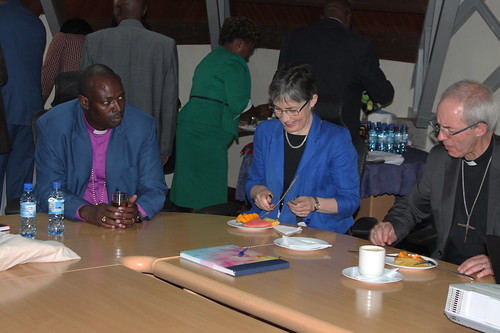 His Grace and the The Archbishop of Canterbury sharing a meal