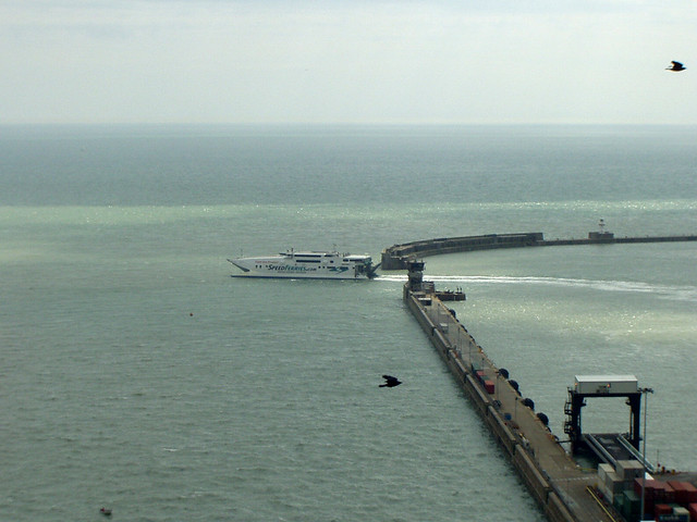 Speed Ferries leaving Dover