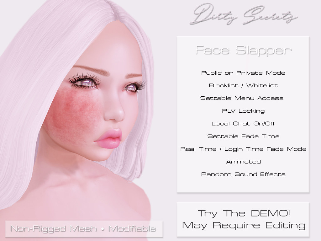 Dirty Secrets - Face Slapper - Kinky Event March 28 - SecondLifeHub.com