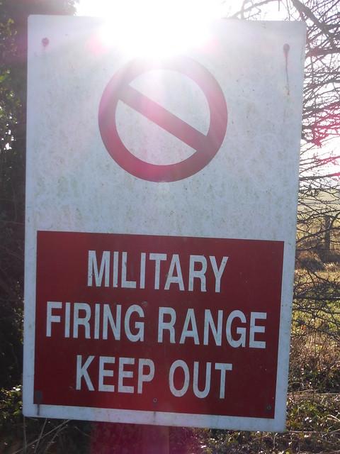 Imber Range Perimeter, Warning Sign