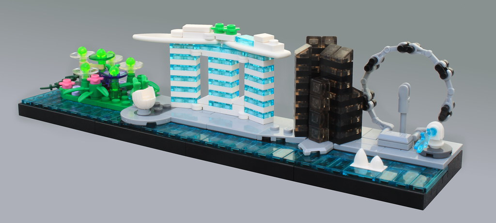 Singapore Skyline (custom built Lego model)