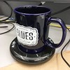 New Blues mug in use. Yay for caffeine fix.
