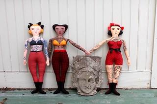 3 tattooed ladies