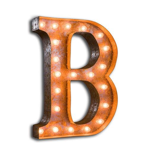 B LIGHT-VINTAGE-LETTER-