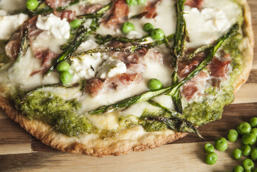 Pea and Mint Pizza 3