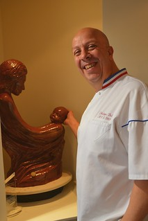 Chocolatier Philippe Bel from Montbrison shows off winning sculpture for MOF competition