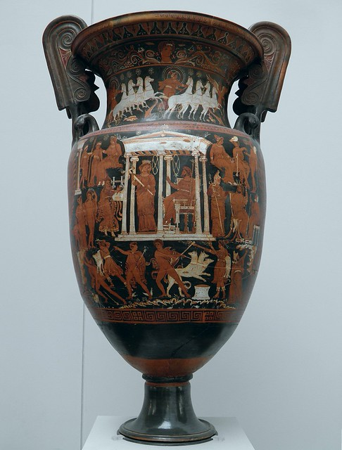 Apulian Red Figure volute krater with scenes of the Underworld, ca. 340-330 BC, Staatliche Antikensammlungen, Munich
