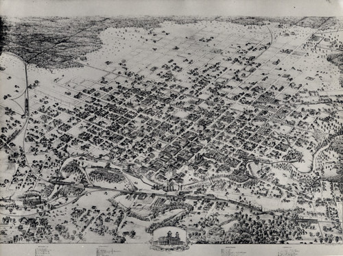 Aerial map of Houston