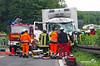 Schwerer Lkw-Unfall A3 Niedernhausen 14.06.13