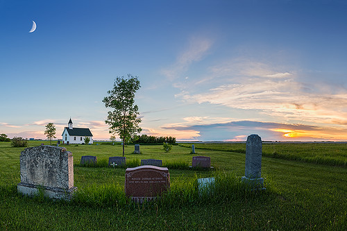 sunset panorama moon canada church grass clouds landscape cemetary tombstone manitoba moonlight prairies hdr sigma2470 nikond600 nelepl