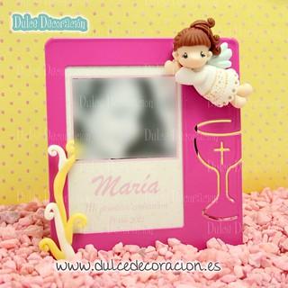 Recuerdo primera comunión cuadro de foto Maria
