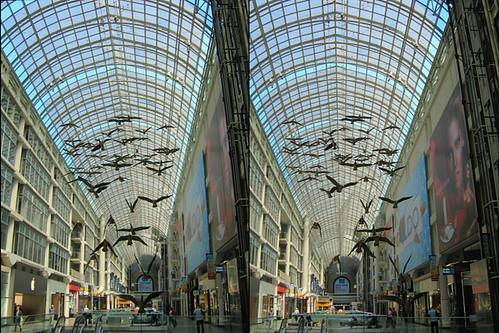 Toronto - Eaton Centre Flightstop (1 of 3) 3D Stereogram