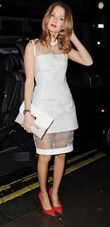 Millie Mackintosh Sheer Dress Celebrity Style Women's Fashion