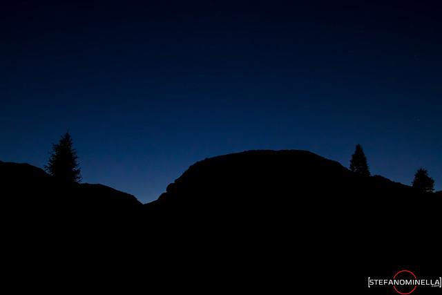 Mountain Night Silouhette