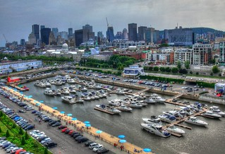 Montreal Old Port and Downtown Skyline