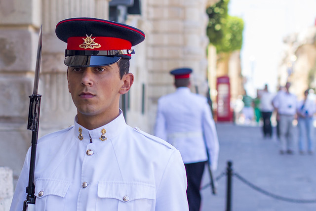 Maltese soldier near Palace of the Grand Master - Valletta / Malta