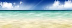 Free sea summer scenery background image