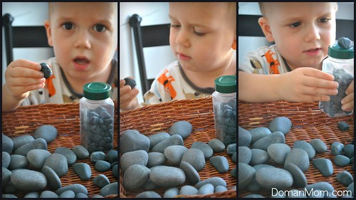 Make Your Own Smooth Stones Natural Play Set (for vocabulary development, math, sensory, & imaginative play)