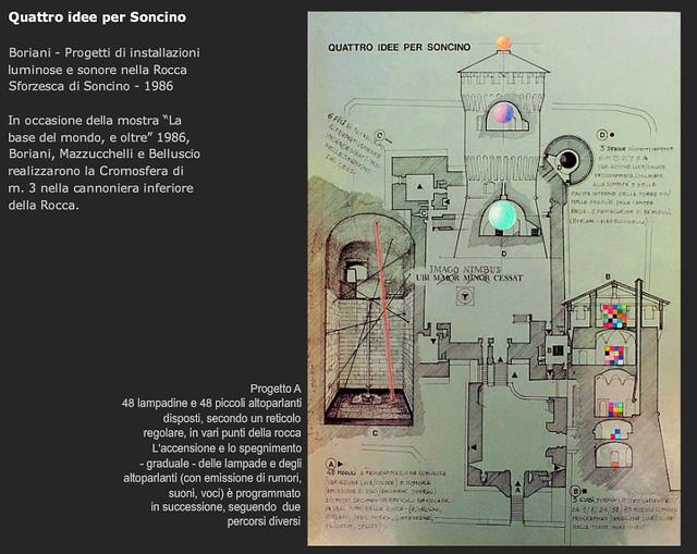 1986 Cromosfera  Boriani & Mazzucchelli, Rocca Sforzesca di Soncino