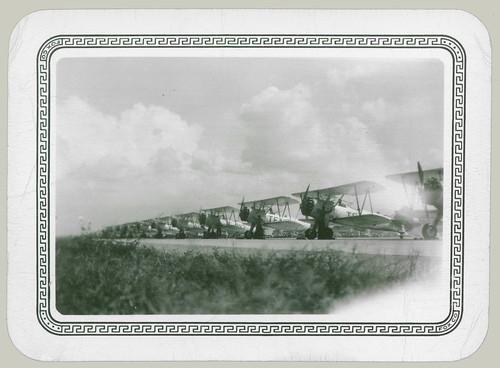 Row of Biplanes