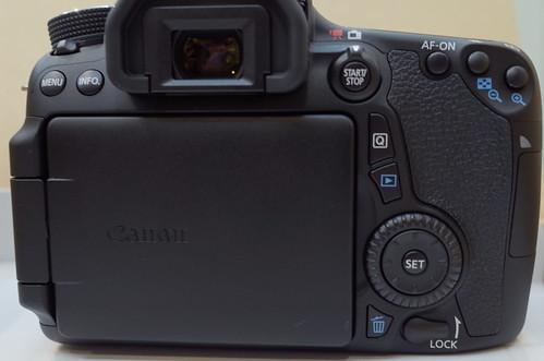 Canon EOS 70D back