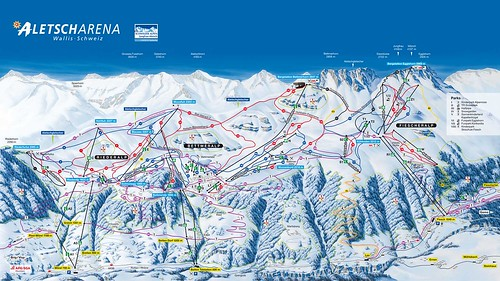 Aletsch Arena - mapa sjezdovek